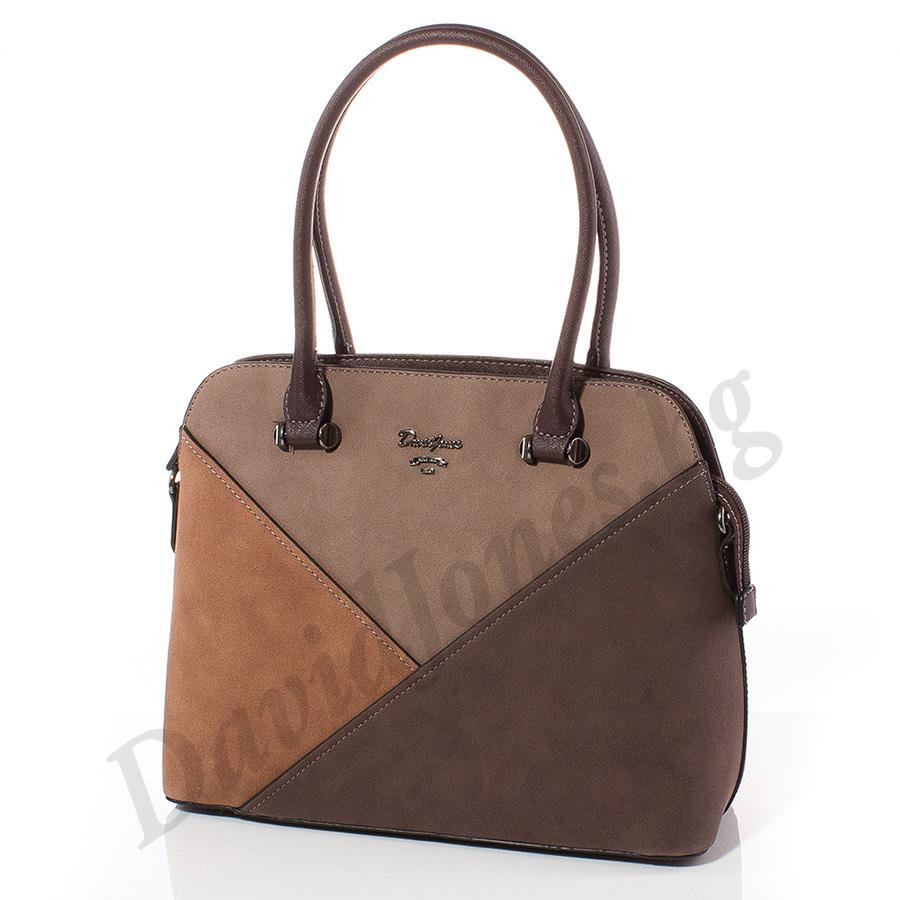 Дамска чанта David Jones 5833-115 - Тъмнокафяв